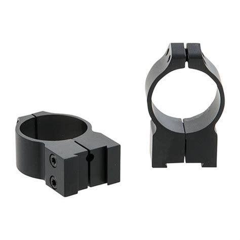 Warne Mfg Company Maxima Grooved Receiver Line Tikka Rings 30mm High Matte Black Tikka Rings