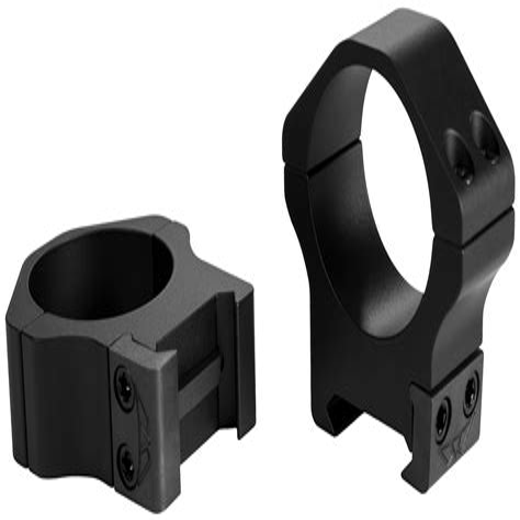 Warne Mfg Company Maxima Horizontal Rings 30mm Low Horizontal Rings Matte Black