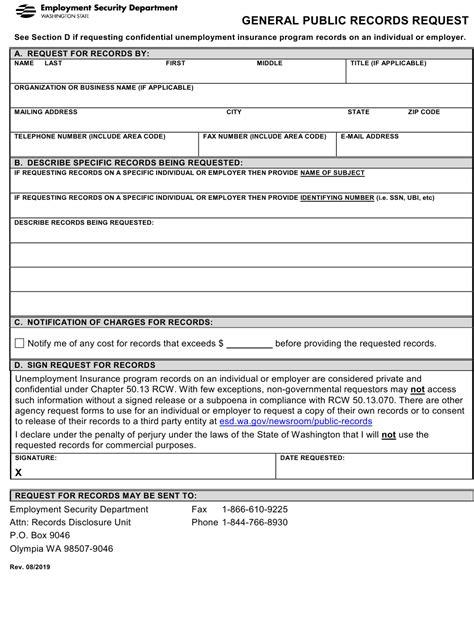 Washington State Public Record