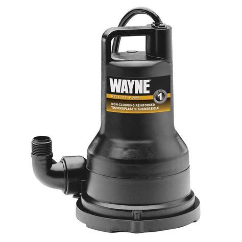 Wayne 1 2 Hp Submersible Non Clogging Vortex Utility Pump