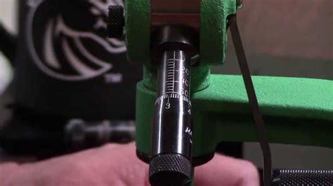 Wbr Video 77 Redding Reloading Model 3br Match Grade Micrometer Metering Insert