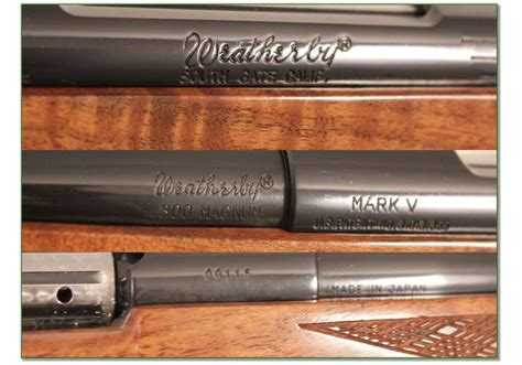 Weatherby Rifle Serial Numbers