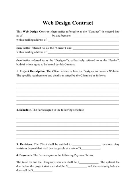 Web Design Contract Template CV Templates Download Free CV Templates [optimizareseo.online]