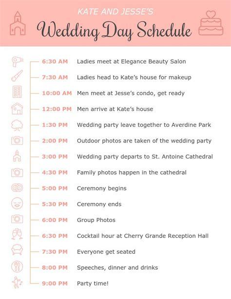 Wedding Day Timeline Template CV Templates Download Free CV Templates [optimizareseo.online]
