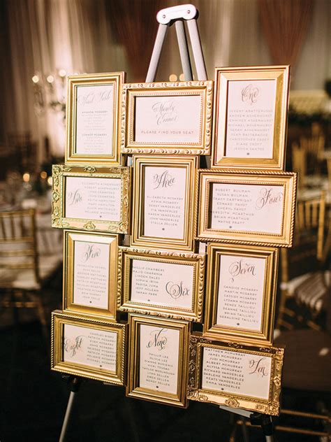 Wedding table plan photo frames Image