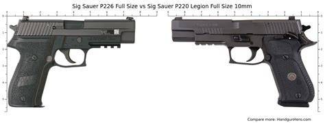 Weight Of Sig P226 Legion Vs Weight Of German P226