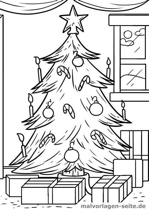 Weihnachtsbaum Malvorlage Gratis