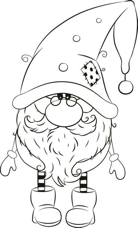 Weihnachtswichtel Malvorlage