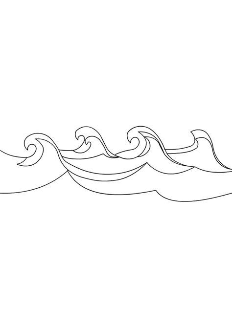 Wellen Malvorlage