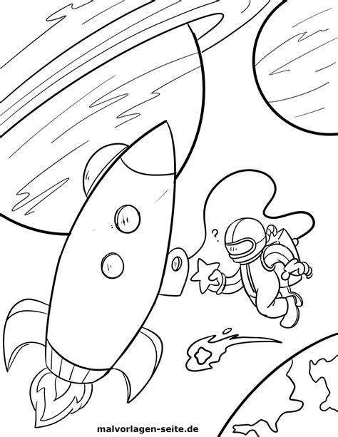 Weltraum Malvorlage