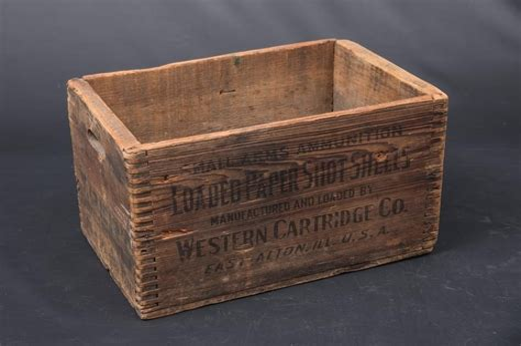 Western Wooden Ammo Box