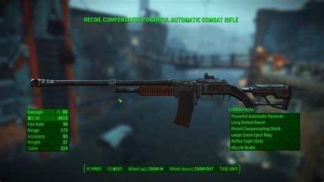 What Is A Silenced 308 Combat Rifle Id Fallout 4