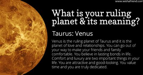 Taurus-Question What Is The Ruling Planet For Taurus.