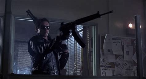 What Shotgun Does The Terminator Use In The Police Station