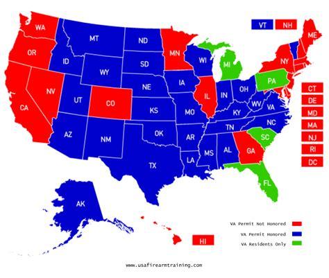 What States Recognize Virginia Concealed Handgun Permit
