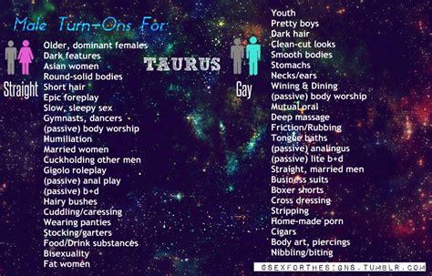 Taurus-Question What Turns A Taurus Man On.
