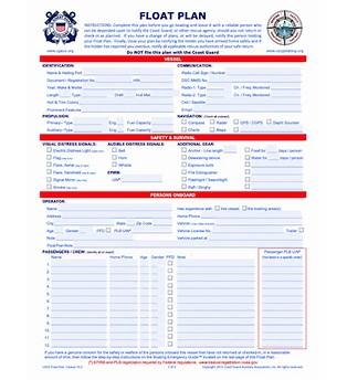 What Is A Boating Float Plan