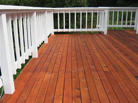 When to stain new deck Image