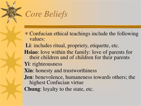 Which Of The Following Was A Confucian Belief