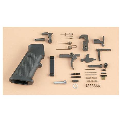 White Ar 15 Lower Parts Kit