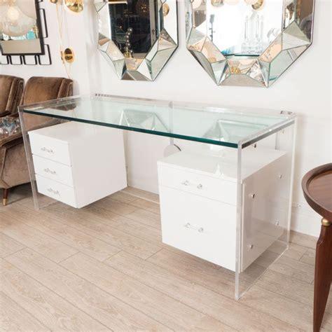White Glass Office Desk