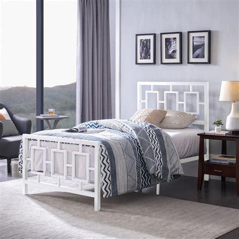 White Iron Twin Bed Frame