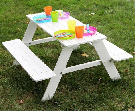 white kids picnic table.aspx Image