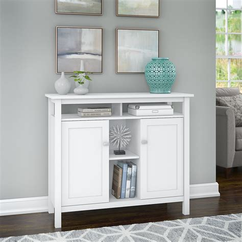 White Console Tables With Storage Image