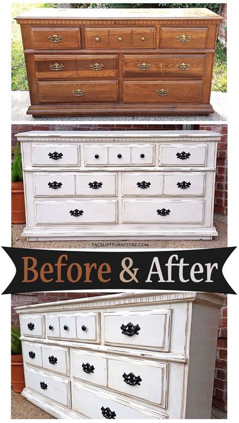White distressed furniture diy Image