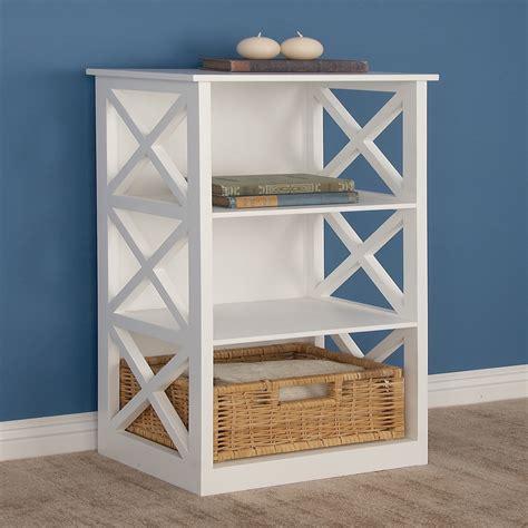 White wooden shelves Image