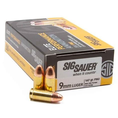 Who Sales Sig Sauer Brand 9mm Ammo