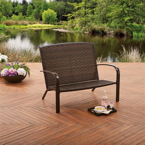 Wicker Benches For Outdoors Image