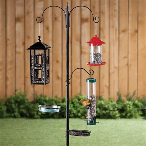 Wild bird feeders and stands Image