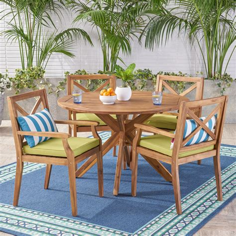 Wildermuth 5 Piece Dining Set with Cushions