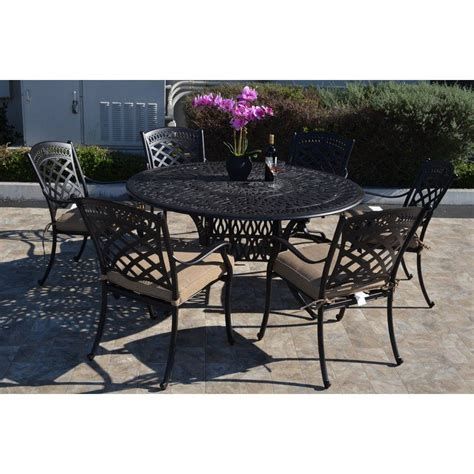 Wildermuth 7 Piece Dining Set with Cushions