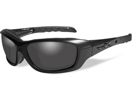 Wiley X Eyewear Gravity Shooting Glasses Smoke Gray Gravity Shooting Glasses Black