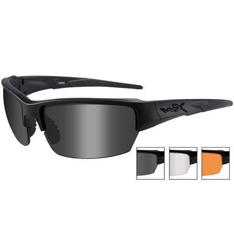 Wiley X Eyewear Saint Shooting Glasses Clear Rust Saint Shooting Glasses Black