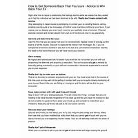 Win back love: how to get your ex back guides