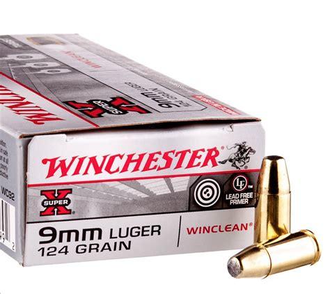 Winchester Usa 9mm Handgun Ammo Fmj 124 Grain 50 Round