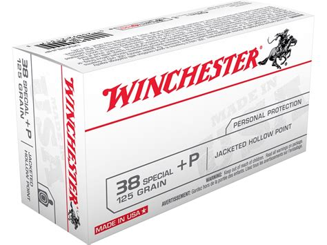 Winchester USA Ammo 38 Special P 125 Grain Jacketed