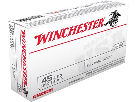 Winchester Usa Ammo 45 Acp 230 Grain Full Metal Jacket