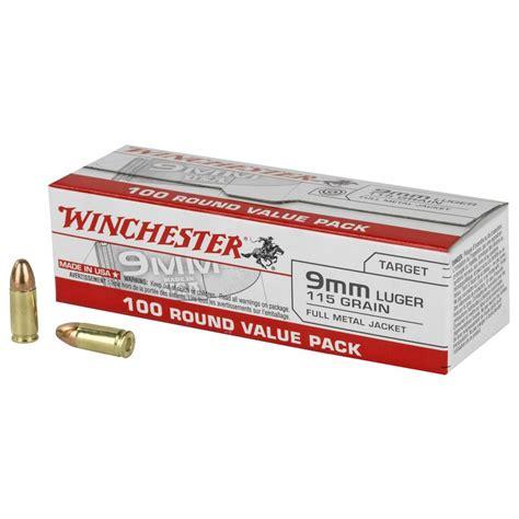 Winchester Usa Handgun 9mm Ammo Bulk Pack