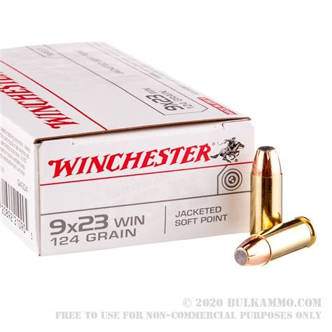 Winchester Usa White Box Ammo 9x23mm Winchester 124gr Jsp 9x23mm Winchester 124gr Jacketed Soft Point 50box