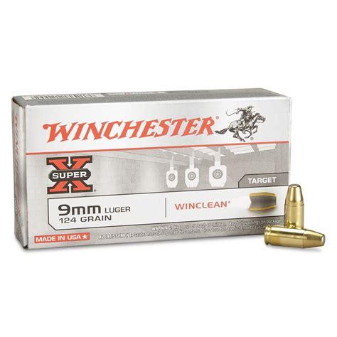 Winchester Usa Winclean 9mm Luger Beb 124 Grain 50