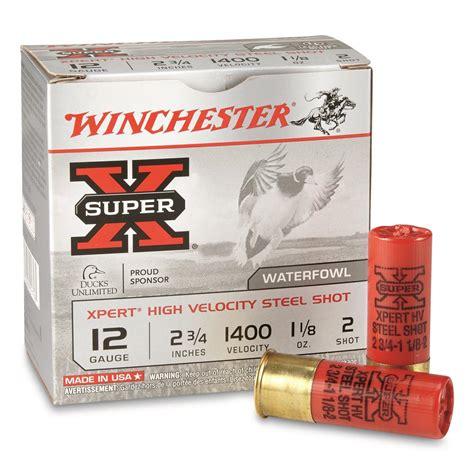 Winchester 12 Ga 2 3 4 1 1 8 Oz 6 Steel Shot - CASE