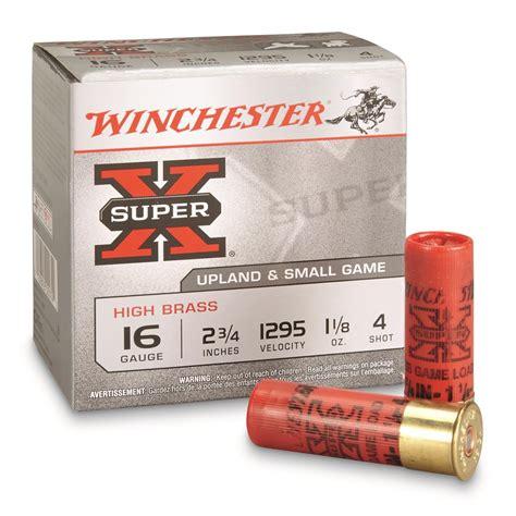Winchester 16 Ga Super X Game 2 3 4 1 Oz 8 Lead Shot