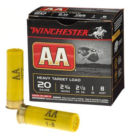 Winchester 20 Ga Aa Target Load 2 3 4 1 Oz 8 Lead Shot