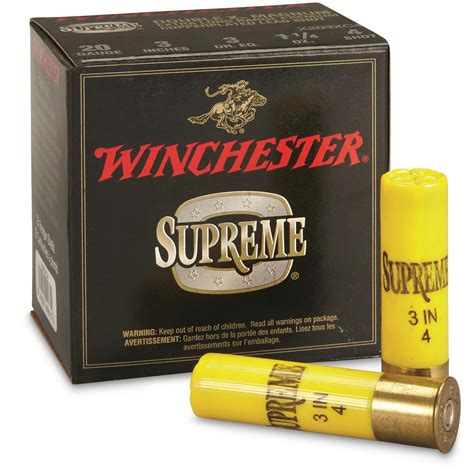 Winchester 20 Gauge 3 1 1 4 Oz Supreme Double X