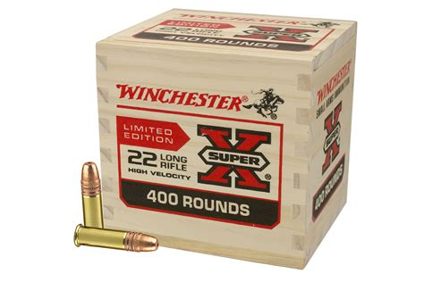 Winchester 22 Ammo In Wooden Box