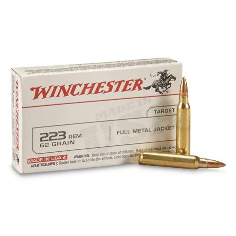 Winchester 223 Remington Fmj 62 Grain 20 Rounds